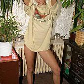 Hawt golden-haired girlfriend stripping.