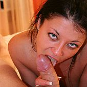 Boy ramming enticed brunette.